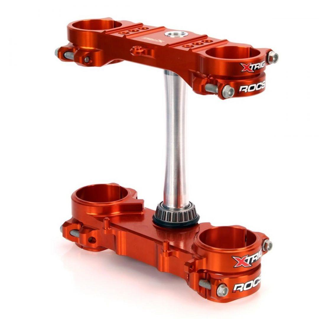 ΤΙΜΟΝΟΠΛΑΚΕΣ XTRIG TRIPLE CLAMP ROCS TECH KTM SX/SX-F 13-19, EXC 17-19, ΠΟΡΤΟΚΑΛΙ