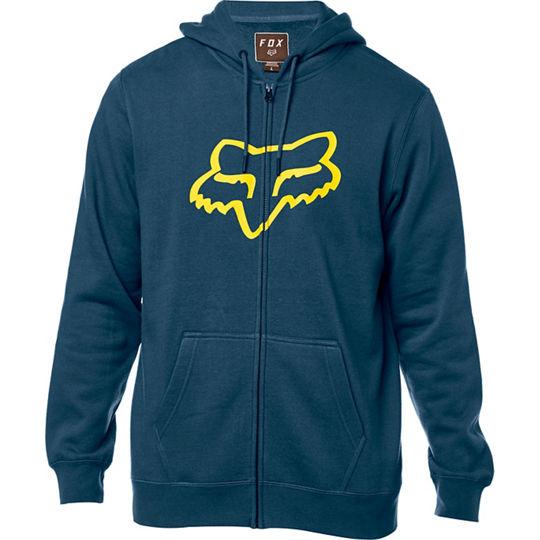 FOX Legacy Foxhead Zip Fleece Hoodie ζακετα μπλε
