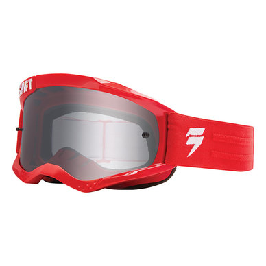 Shift WHIT3 Non Mirrored Motocross Goggles ΜΑΣΚΑ ΚΟΚΚΙΝΗ