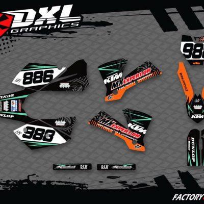 ΣΕΤ ΑΥΤΟΚΟΛΛΗΤΑ KTM sxf sx excf exc 250 300 450 2004-