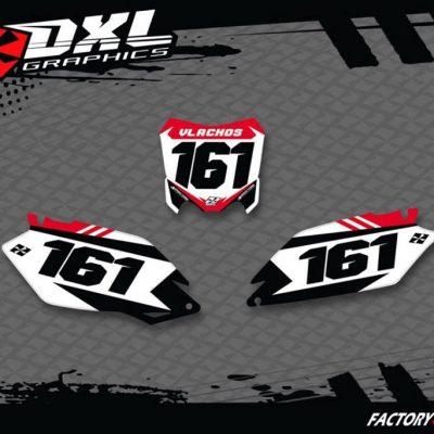 ΑΥΤΟΚΟΛΛΗΤΑ honda number plate motocross
