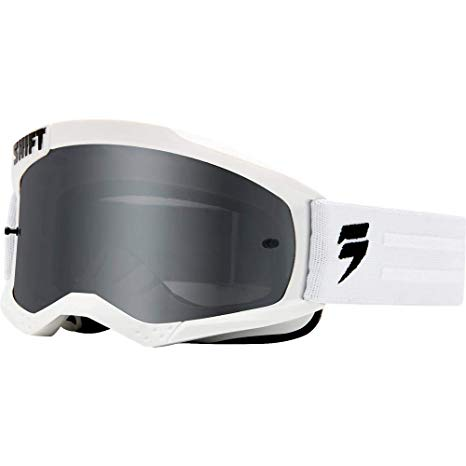 Shift WHIT3 Non Mirrored Motocross Goggles ΛΕΥΚΗ