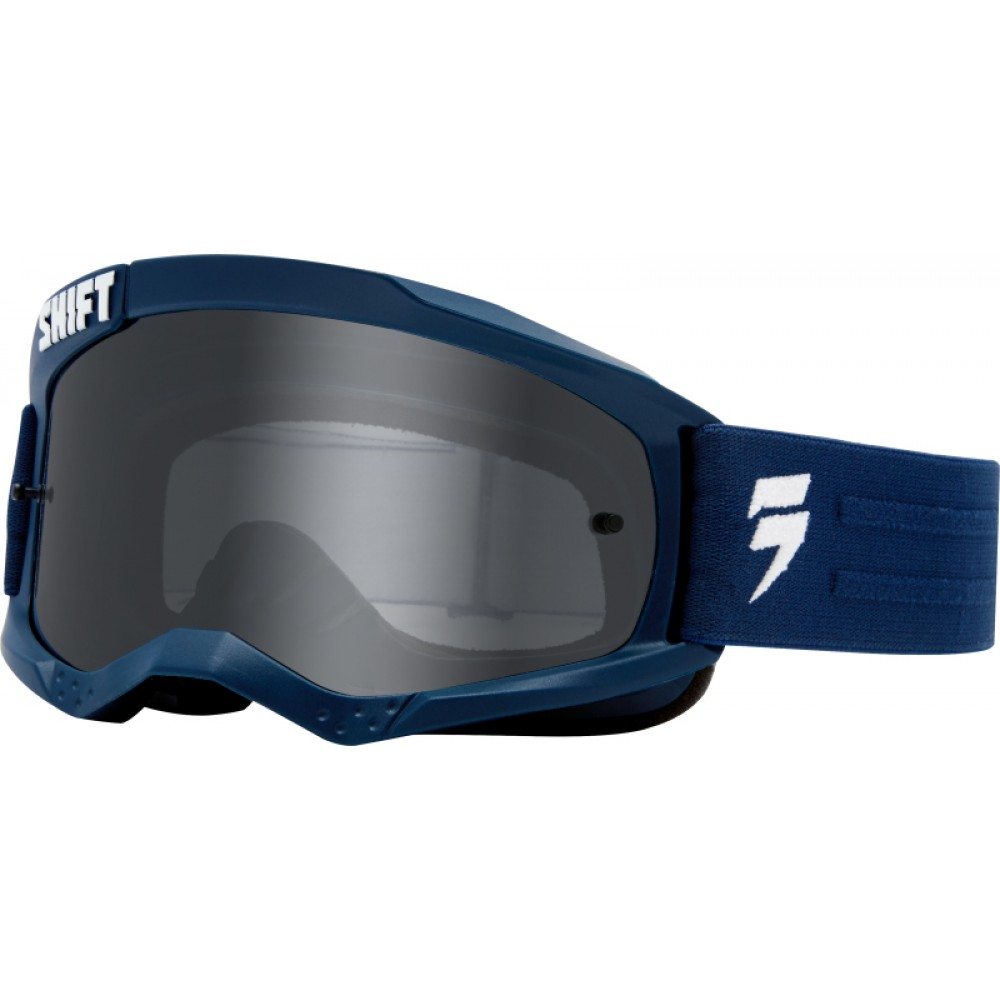 Shift WHIT3 Non Mirrored Motocross Goggles NAVY ΜΠΛΕ