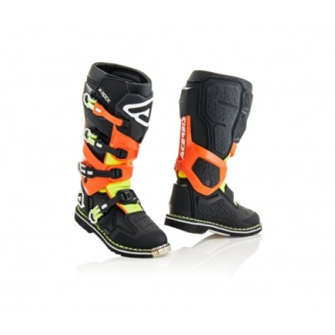ACERBIS BOOTS X-ROCK - BLACK/FLO ORANGE