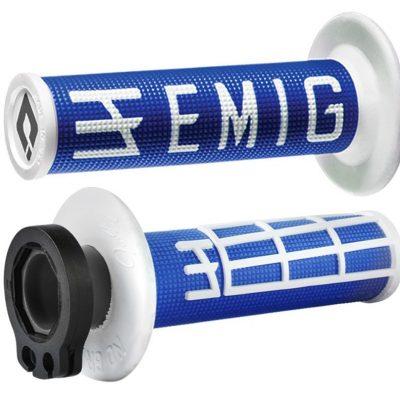 ΧΕΙΡΟΛΑΒΕΣ GRIPS odi emig V2 2T 4T racing-lock-on-motocross μπλε λευκό