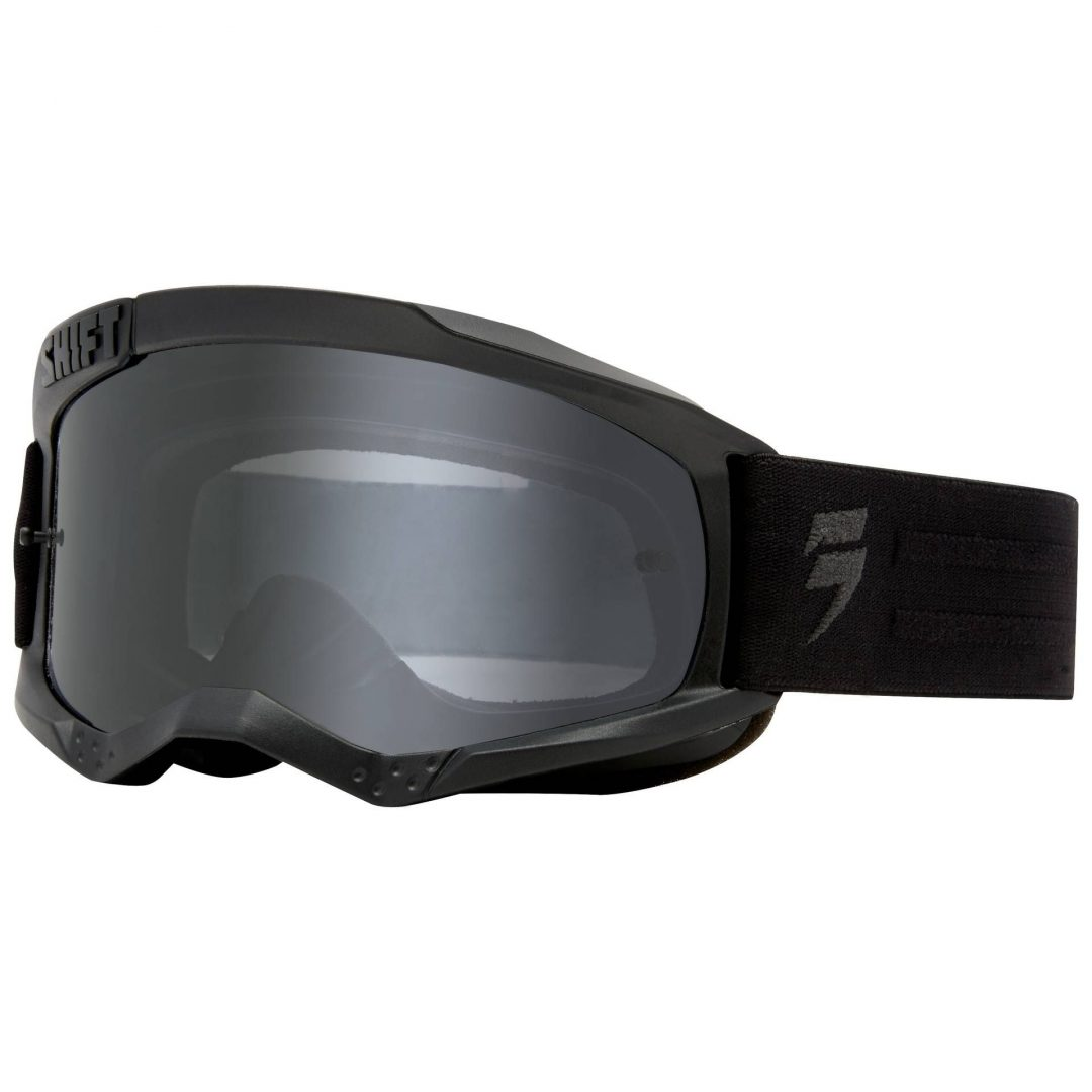 Shift WHIT3 Non Mirrored Motocross Goggles ΜΑΣΚΑ ΜΑΥΡΗ